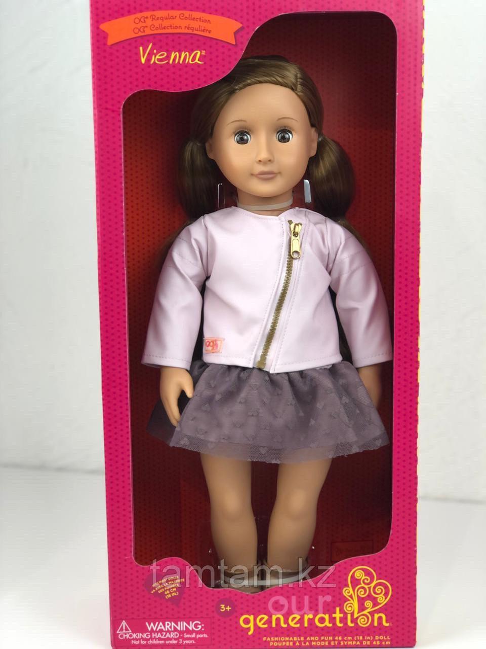 """Кукла """"Виена в розовой кожаной курткe"""" 46 см от Our Generation/ Канада - фото 5"""