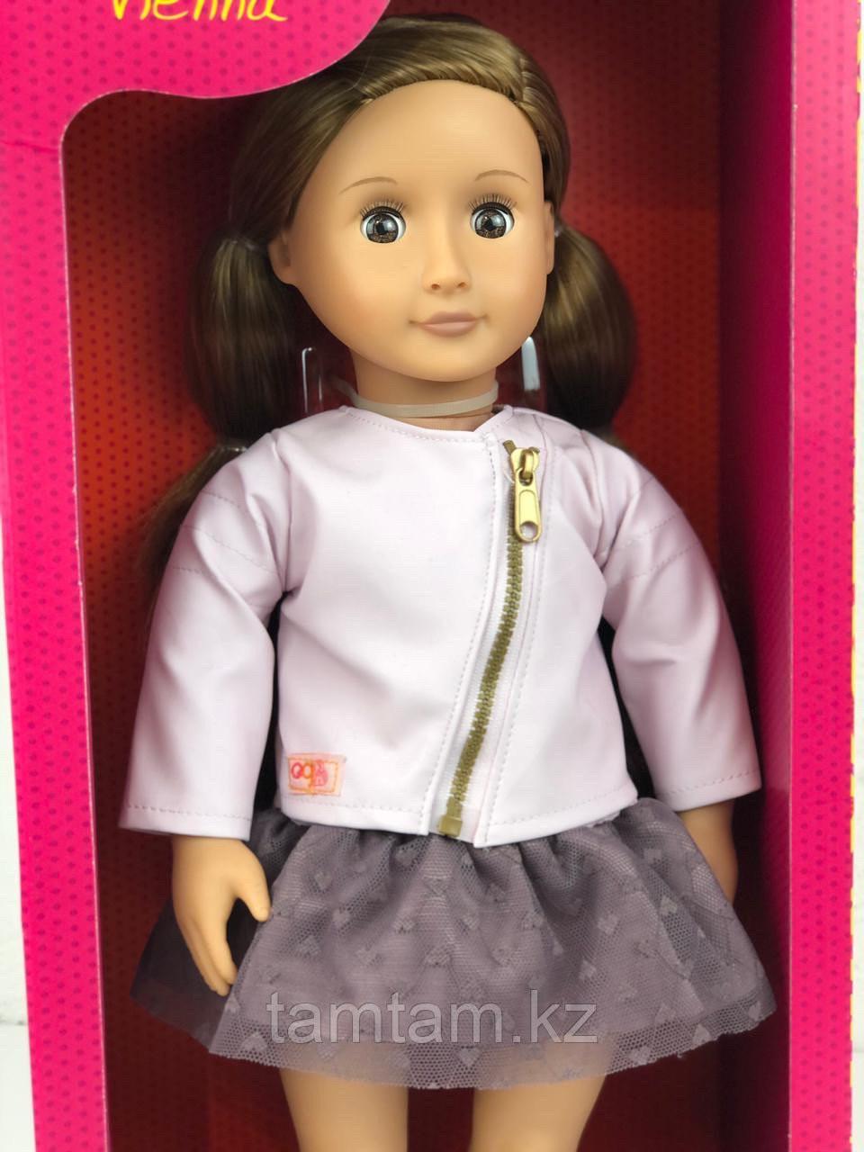 """Кукла """"Виена в розовой кожаной курткe"""" 46 см от Our Generation/ Канада - фото 2"""