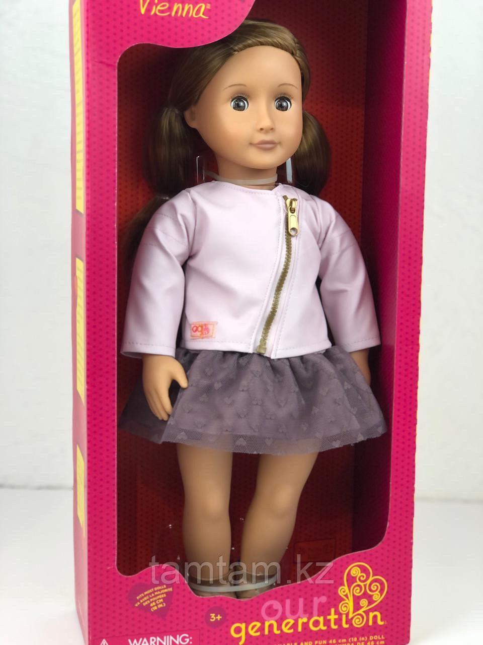 """Кукла """"Виена в розовой кожаной курткe"""" 46 см от Our Generation/ Канада - фото 7"""