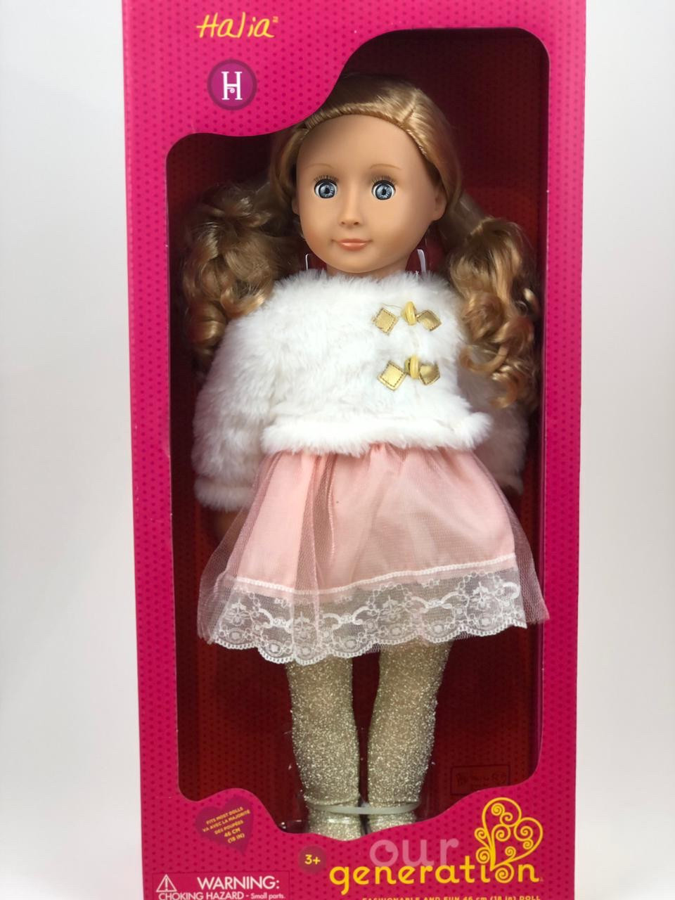 """Our generation"" кукла Галия в белом полушубке/ 46 См/ Канада"