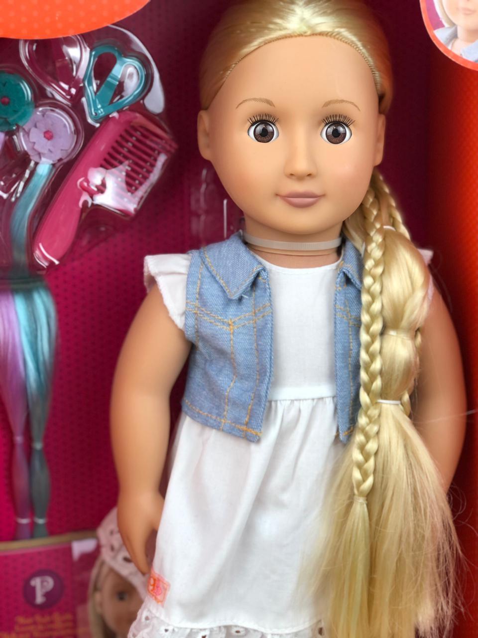 Фиби «Our generation блондинка с растущими длинными волосами/46 см/Канада - фото 2