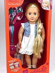 """Фиби «Our generation"""" блондинка с растущими длинными волосами/46 см/Канада"""