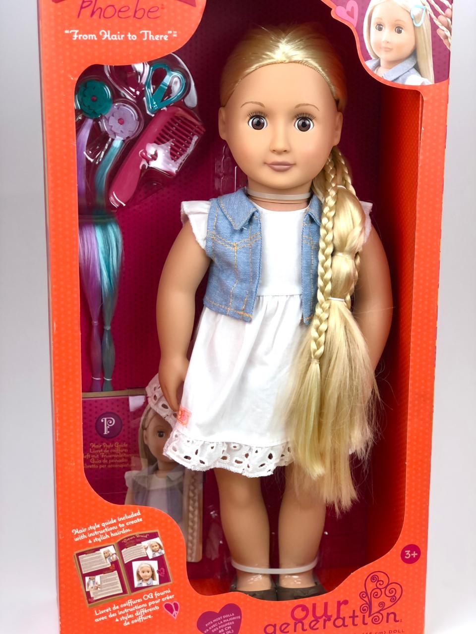 Фиби «Our generation блондинка с растущими длинными волосами/46 см/Канада - фото 1