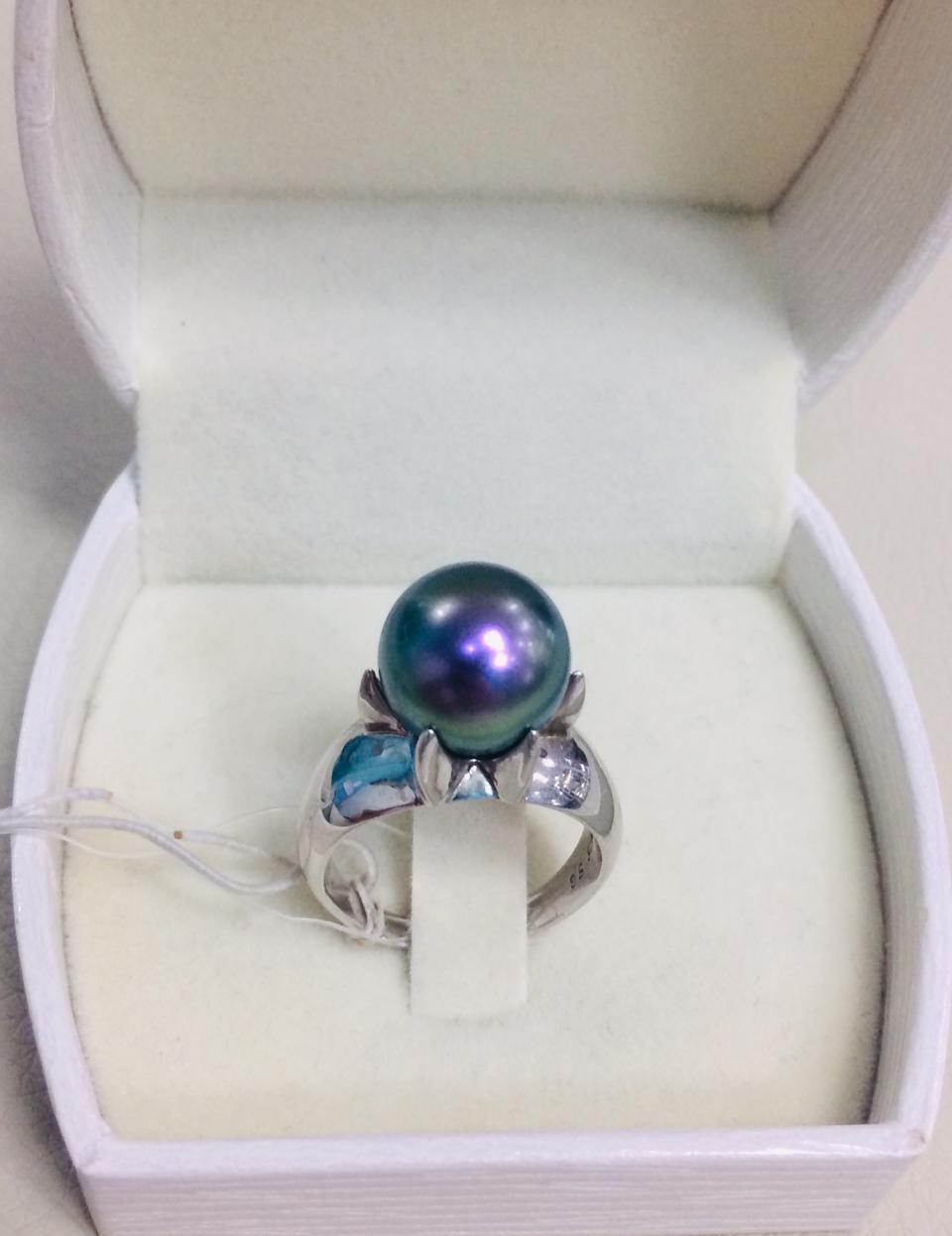 Кольцо с жемчугом Misaki / серебро - 18 размер