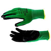 Перчатки полиэфирные с черным нитрильным покрытием маслобензостойкие, L, 15 класс вязки Palisad