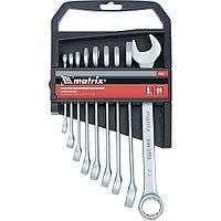 Набор ключей комбинированных, 6-22 мм, 9 шт, CrV, матовый хром Matrix