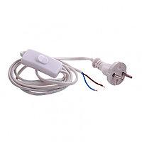 Шнур электрический соединительный, для бра с выключателем, 1.7 м, 120 Вт, белый, тип V-1 Россия Сибртех
