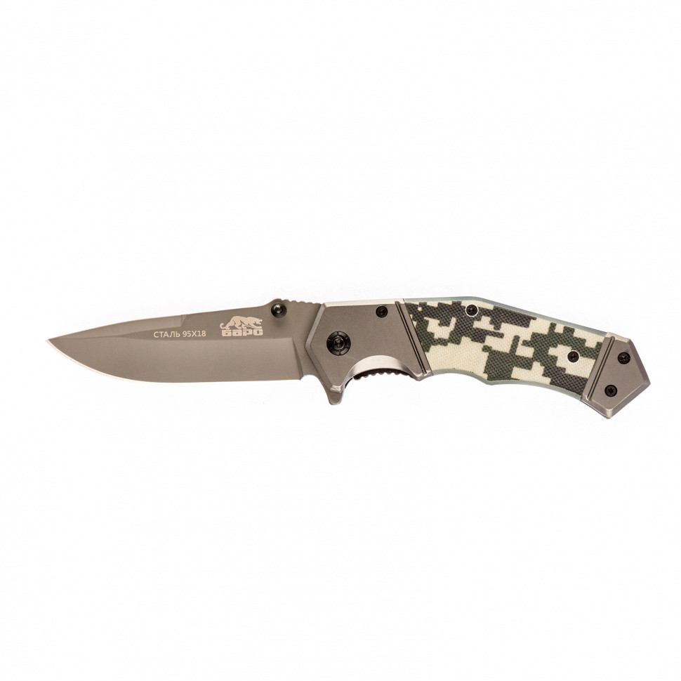 Нож туристический, складной, 203/90 мм, система Liner-Lock, с накладкой G10 на рукоятке Барс - фото 1