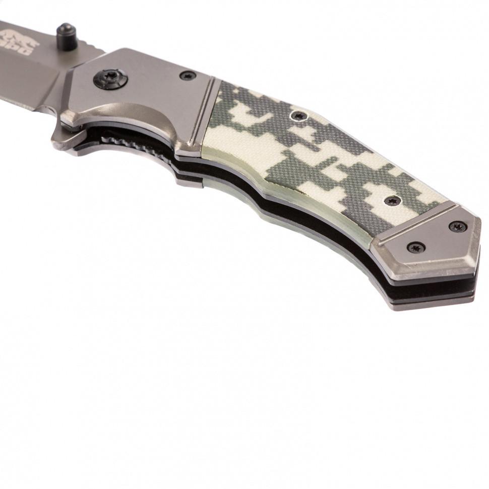 Нож туристический, складной, 203/90 мм, система Liner-Lock, с накладкой G10 на рукоятке Барс - фото 4