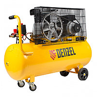 Компрессор воздушный BCI2300/100, ременный привод, 2.3 кВт, 100 литров, 400 л/мин Denzel