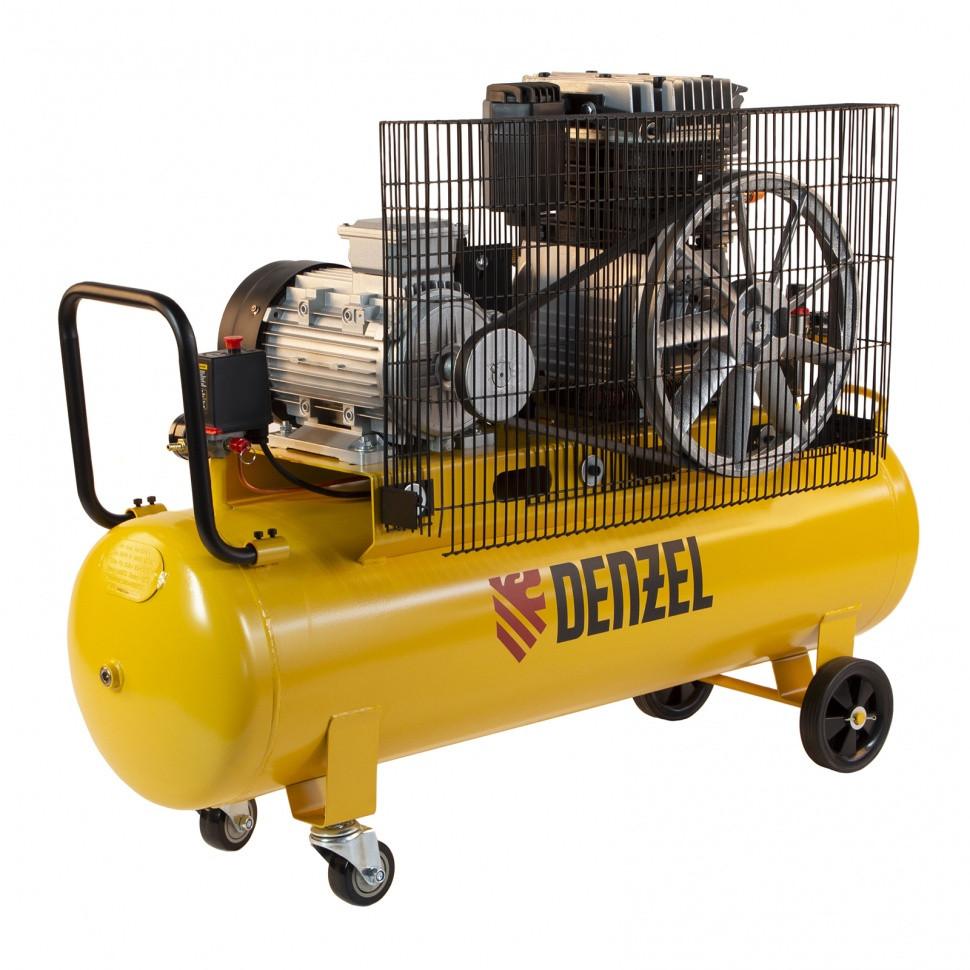 Компрессор воздушный, ременный привод BCI4000-T/100, 4.0 кВт, 100 литров, 690 л/мин Denzel - фото 2