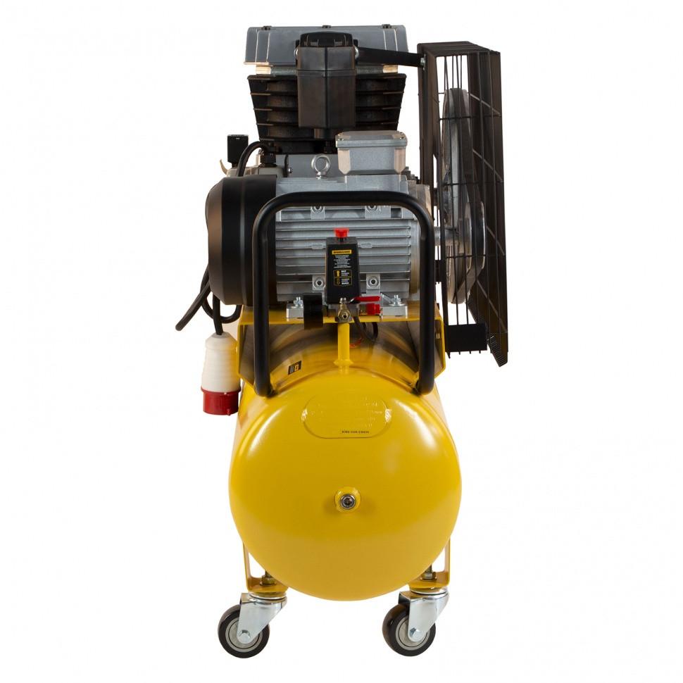 Компрессор воздушный, ременный привод BCI4000-T/100, 4.0 кВт, 100 литров, 690 л/мин Denzel - фото 3