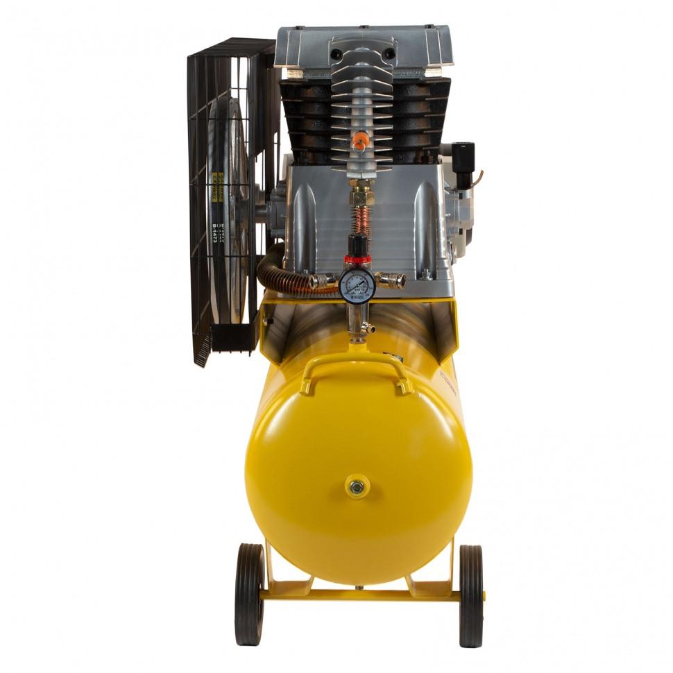 Компрессор воздушный, ременный привод BCI4000-T/100, 4.0 кВт, 100 литров, 690 л/мин Denzel - фото 4