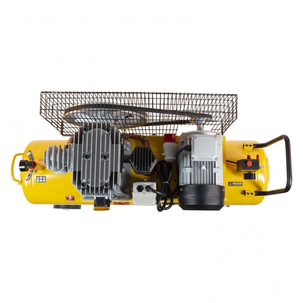 Компрессор воздушный, ременный привод BCI4000-T/100, 4.0 кВт, 100 литров, 690 л/мин Denzel - фото 7