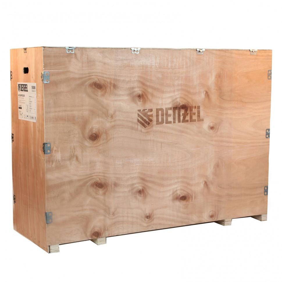 Компрессор воздушный, ременный привод BCI4000-T/100, 4.0 кВт, 100 литров, 690 л/мин Denzel - фото 8