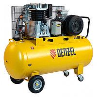 Компрессор воздушный, ременный привод BCI5500-T/200, 5.5 кВт, 200 литров, 850 л/мин Denzel