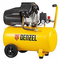 Компрессор воздушный DCV2200/50, прямой привод, 2.2 кВт, 50 литров, 380 л/мин Denzel
