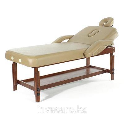 Массажный стол стационарный (кофе с молоком) (МСТ-007Л)