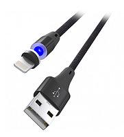 Кабель Apple iPad/iPhone/iPod, Ritmix RCC-522 Magnet Black, 1м, Черный Cable 8 pin, 2A, магнитный коннектор