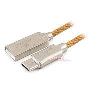 Кабель USB, Cablexpert CC-P-USBC02Gd-1.8M, 1.8м Cable Type A - Type C, USB 2.0, gold
