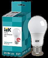 Лампа светодиодная A60 20Вт 230В 4000К E27 IEK