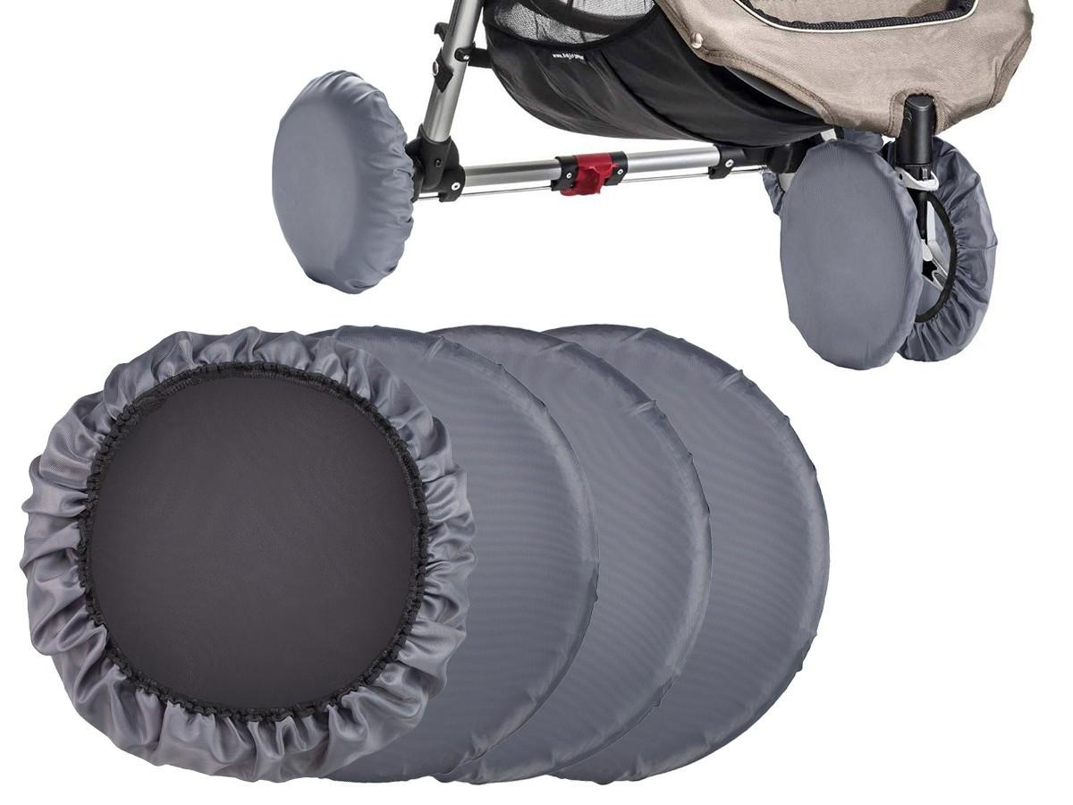 Чехлы на колеса прогулочной коляски, 4 шт. (цвет серый) - фото 1