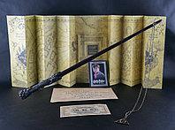 Набор Волшебная палочка Гарри+Карта мародеров+Письмо из Хогвартса+Билет на платформу 9 и 3/4+Кулон Дары Смерти