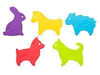 Антискользящие мини-коврики ROXY-KIDS для ванны. Серия ANIMALS. Цвета в ассортименте. 5 шт.