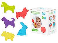 Антискользящие мини-коврики ROXY-KIDS для ванны. Серия ANIMALS. Цвета в ассортименте. 15 шт.