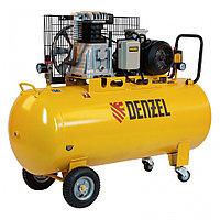 Компрессор воздушный BCI3000-T/200, ременный привод , 3.0 кВт, 200 литров, 530 л/мин Denzel