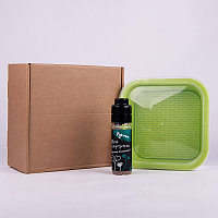 Подарочный набор для проращивания микрозелени: проращиватель, семена руколы, Зеленый, -, 33817 рукола