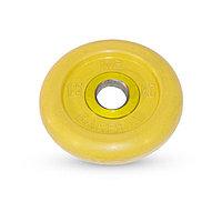 Диск обрезиненный d=51 мм цветной 1,25 кг, цвет жёлтый