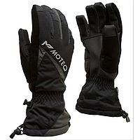 Зимние перчатки СНЕЖОК чёрный, серый, L