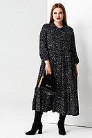 Женское осеннее из вискозы черное большого размера платье Панда 58980z черный 50р.