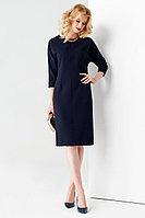 Женское осеннее трикотажное синее нарядное платье Панда 59480z синий 42р.