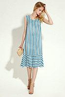 Женское летнее из вискозы голубое платье Панда 482480 бело-голубой 42р.