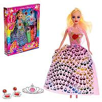 Кукла-модель «Тоня» с набором платьев, с аксессуарами, МИКС