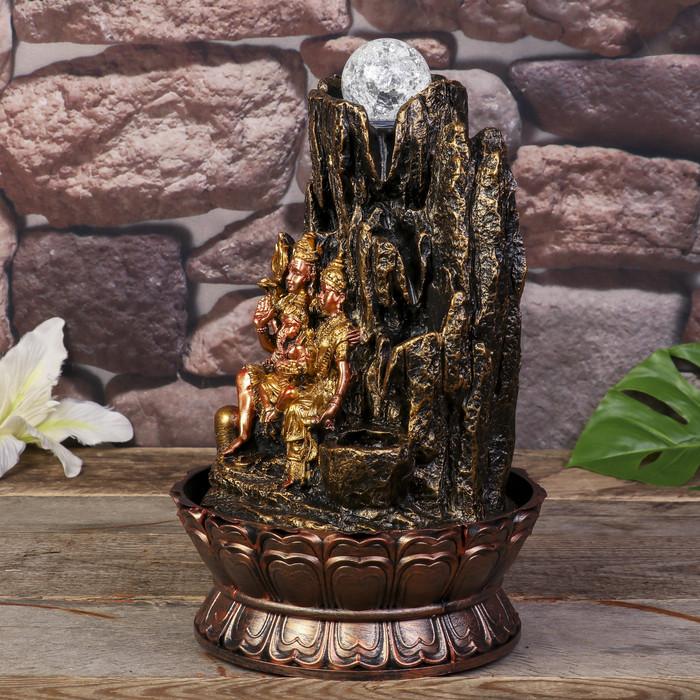 Фонтан настольный от сети, подсветка 'Ганеша, Шива и Парвати' 31х19,5х19,5 см - фото 3