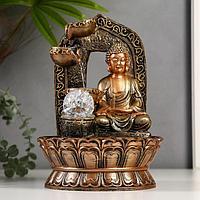 Фонтан настольный от сети, подсветка 'Будда в арке с водопадом' 30х21х21 см