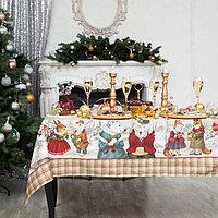 Набор столовый 'Winter holidays' скат.220х150см +/-3см с ГМВО, салф.40х40см-12 шт, хл100