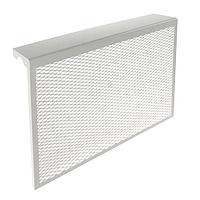 Экран на чугунный радиатор, 690 х 610 х 142 мм, 7 секций, металлический, белый