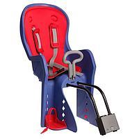 Велокресло заднее BQ-9 с ручкой, крепление на раму с кнопкой, цвет синий