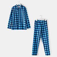 Комплект (рубашка, брюки) мужской 'Креатив' цвет синий, размер 54