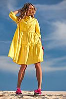 Женское летнее хлопковое желтое платье Golden Valley 4724 желтый 42р.