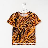 Футболка женская, цвет оранжевый, размер 44