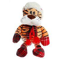Мягкая игрушка 'Тигр', с шарфом, 20 см
