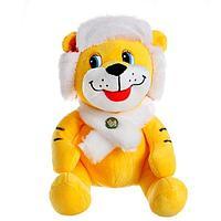 Мягкая игрушка 'Тигр', в зимней шапочке, 20 см