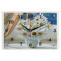 Часы настенные прямоугольные 'Ромашки', 25х35 см
