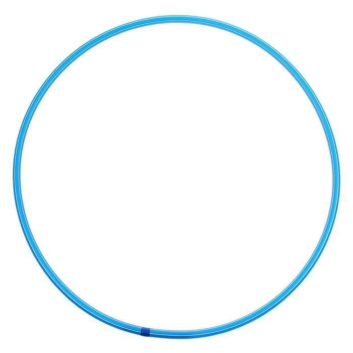 Обруч, диаметр 70 см, цвет голубой - фото 1