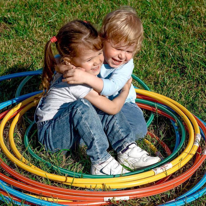 Обруч, диаметр 70 см, цвет голубой - фото 3